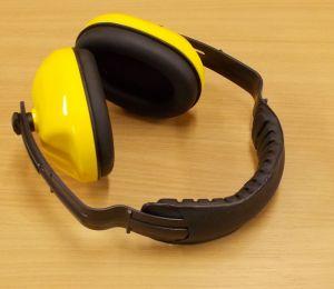 Ochranná sluchátka - žlutá nastavitelná