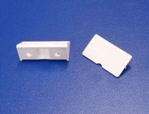Plastový náb. rožek 4 otvorový, vedle sebe , bílý , bal= 50 ks