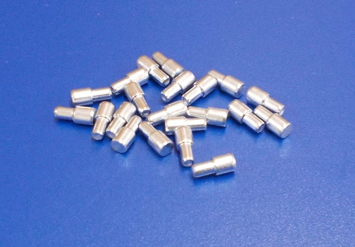 Policové podpěrky 7/5 x16 mm, zinek bílý, bal=1000ks