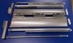 Sada kování na zásuvku innotech 470 / 144 mm šedá, plnovýsuv s tlumením