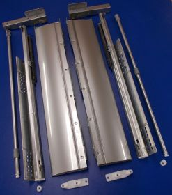 Sada kování na zásuvku innotech Atira 470 / 176 mm šedá, plnovýsuv s tlumením
