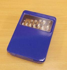 Sada vybrušovaných vrtáků do kovu HSS-G, DIN 338, 19 ks