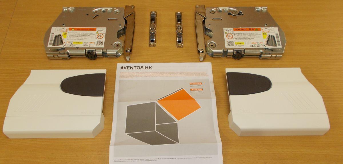 Blum Aventos HK 2700 střední ,komplet sada,bílé krytky, balení=1pár
