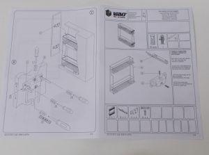 Výsuvný dvojkoš,VIBO,plnovýsuv quadro s tl., 150mm,pravý, pro hor.skříňku