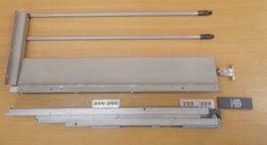 Plnovýsuv s tl. STRONG BOX 204/350 mm - šedá dvojitý reling