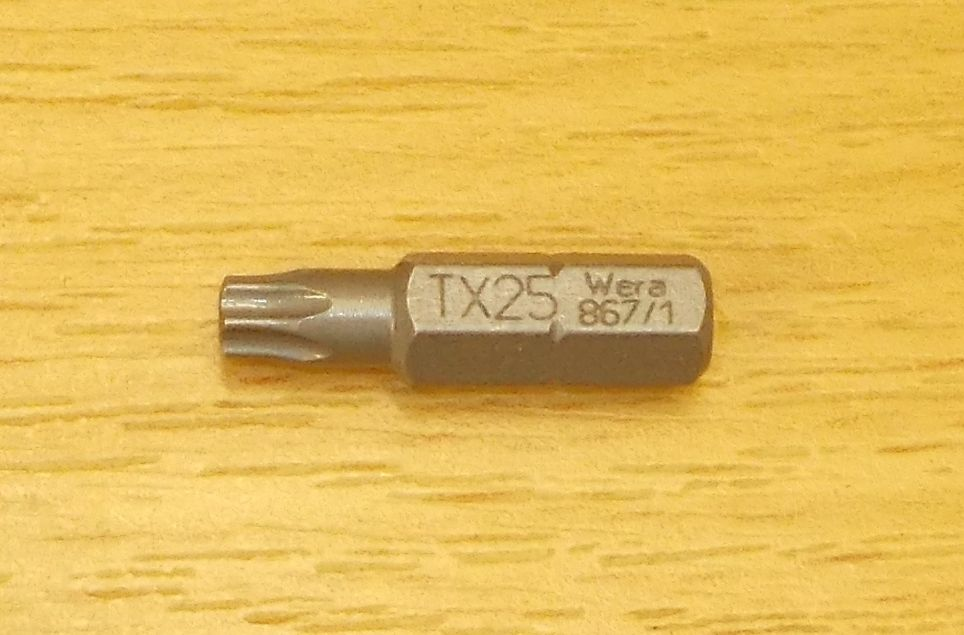 bit , značka wera, TORX T25- délka 25 mm , balení = 1kus