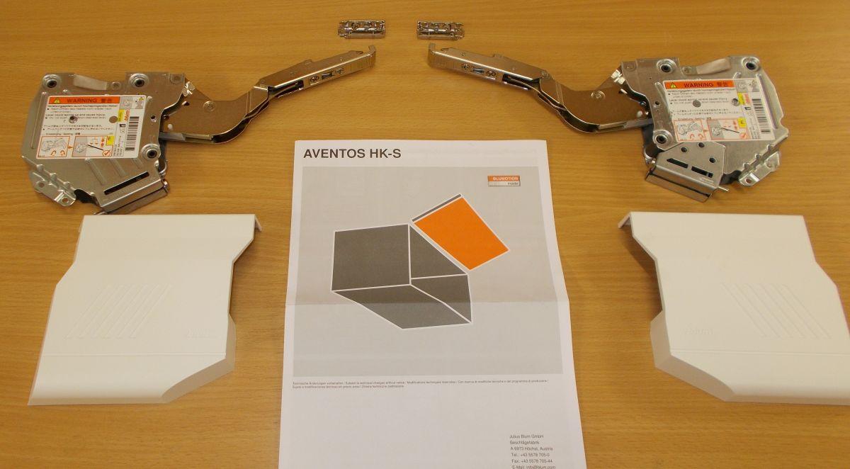 Blum Aventos HK-S ,komplet sada,bílé krytky, balení=1pár