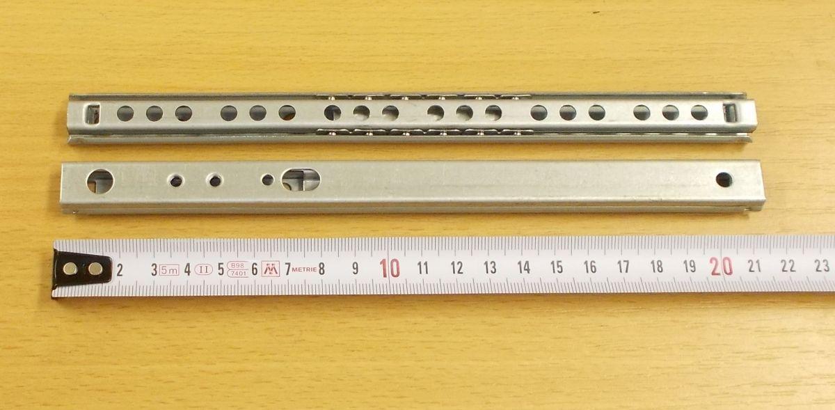 Kuličkový mikrovýsuv, minivýsuv - délka 220 mm - balení=1pár