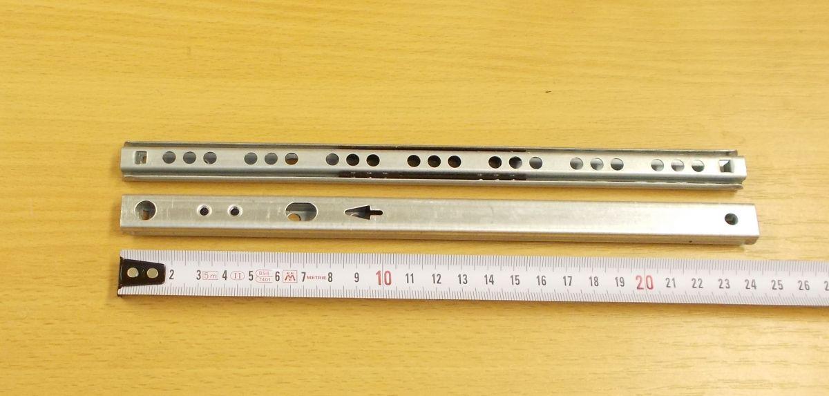 Kuličkový mikrovýsuv, minivýsuv - délka 250 mm - balení=1pár