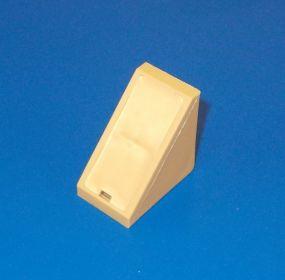 Plastový náb. rožek 4 otvorový, nad sebou ,buk/olše , bal= 50 ks