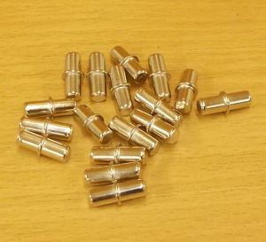 Policové podpěrky 5/5 x16 mm, NIKL, bal=1000ks