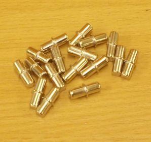 Policové podpěrky 5/5 x 16 mm, NIKL, bal=1000ks