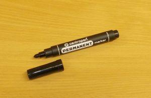 Popisovač, centropen permanent maker, fix, hrot 2,5mm, černý