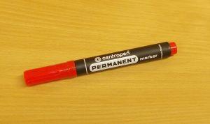 Popisovač, centropen, fix, hrot 2,5mm, červený