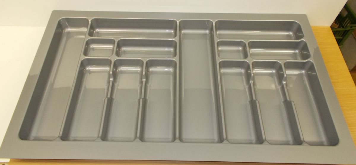 příborník 80 rovný , šedá metalíza, rozměr 735x490mm