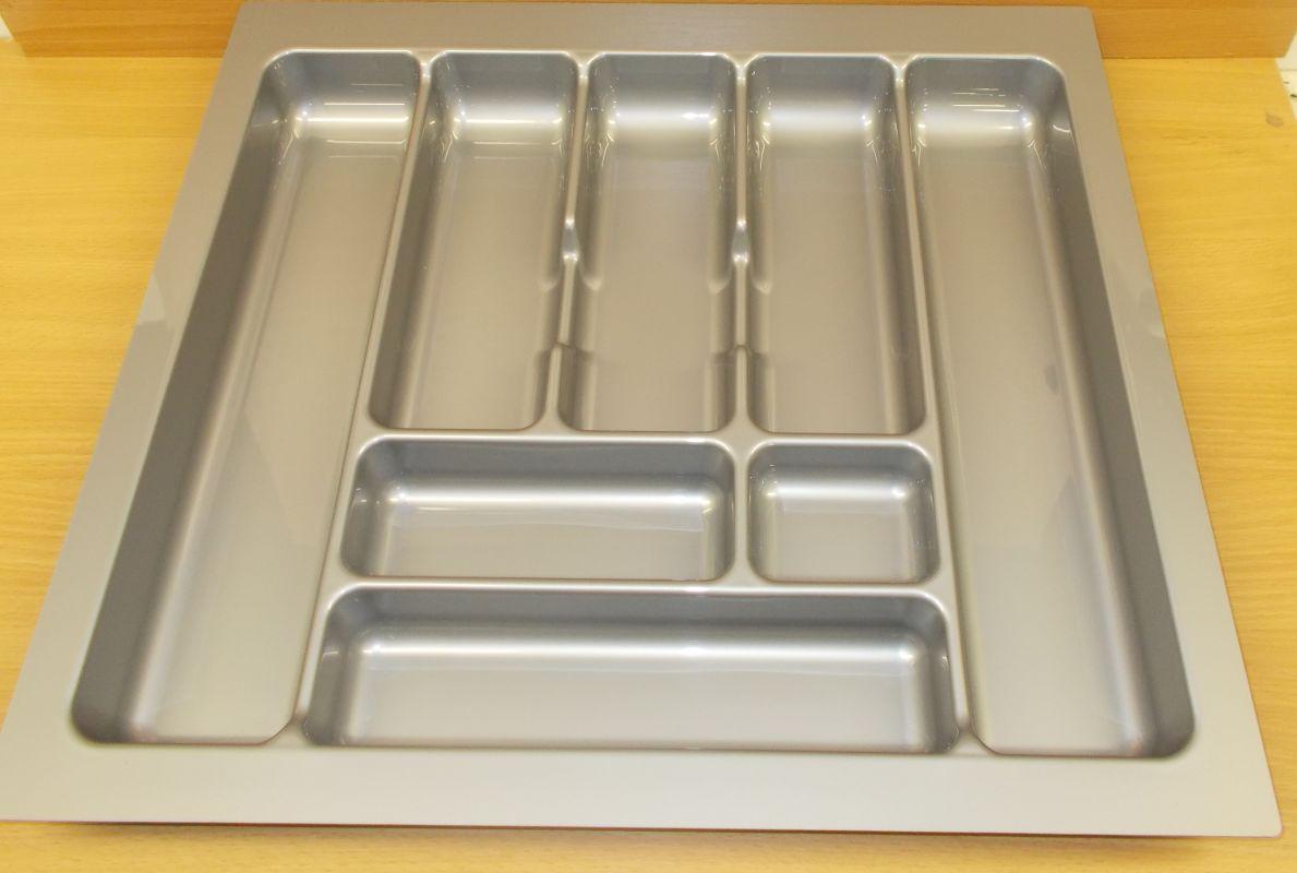příborník 60 rovný , šedá metalíza, rozměr 535x490mm