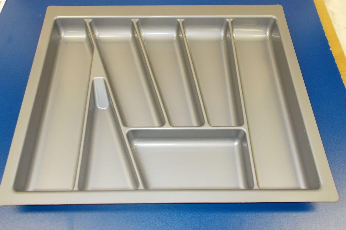 příborník 60 šikmý , šedá metalíza, rozměr 530x430mm