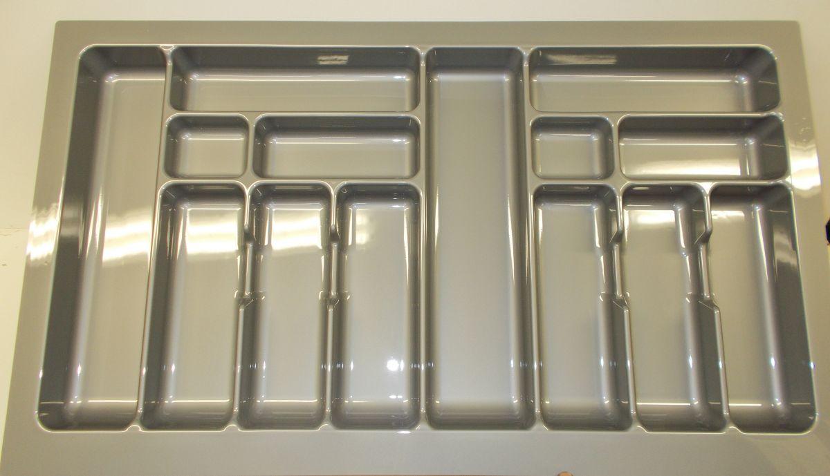 příborník 90 rovný , šedá metalíza, rozměr 835x490mm