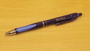 Propiska Solidly, modrá náplň, tenký hrot, 1ks - různá barva těla (nahodile)