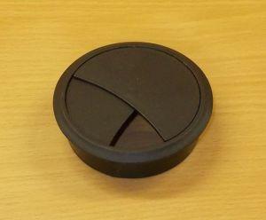 Průchodka kabelová, zaklapávací 70 mm - černá
