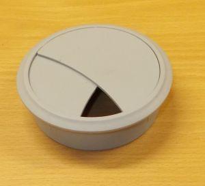 Průchodka kabelová, zaklapávací 70 mm - šedá