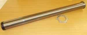 Stolová noha nerez 710 mm, (imitace -broušená ocel)