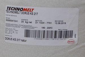 Tavné lepidlo Dorus-technomelt KS 217 ,barva natur, balení=pytel 25kg