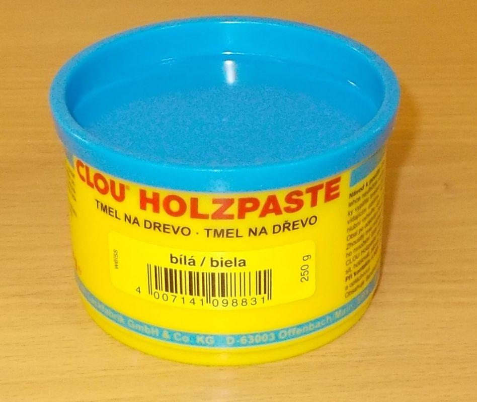 Tmel na dřevo CLOU Holzpaste - barva bílá - 250 g