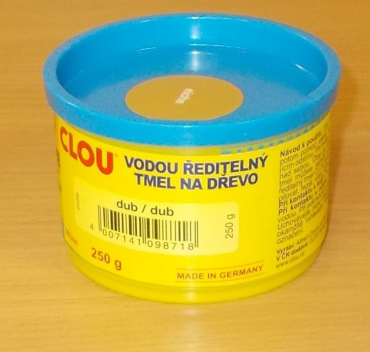 Tmel na dřevo CLOU Holzpaste - barva dub - 250 g