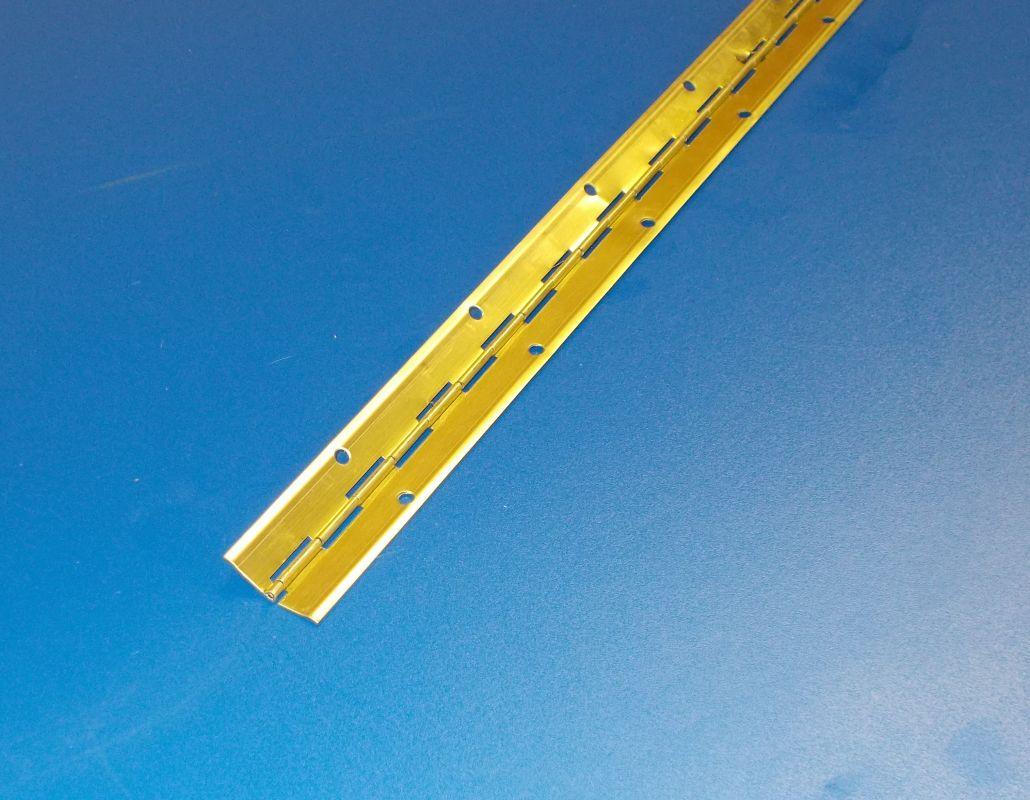 Tyčový závěs - klavírák , mosaz , 1ks - délka 3500mm