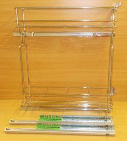 Výsuvný dvojkoš,Chrom,částečný výsuv FGV s tlumením, 150mm,pravý