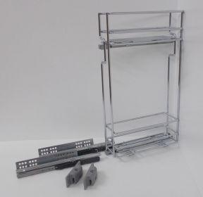Výsuvný dvojkoš,VIBO,plnovýsuv quadro s tl., 150mm,levý, pro HORNÍ skříňku
