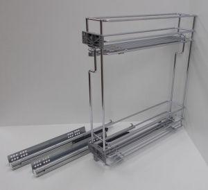Výsuvný dvojkoš,VIBO,plnovýsuv quadro s tlumením., 150mm,levý, pro spodní skříňku