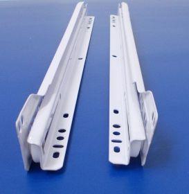Rolničkový-kolečkový výsuv - bílý , 1 kompl.sada, délka 400mm