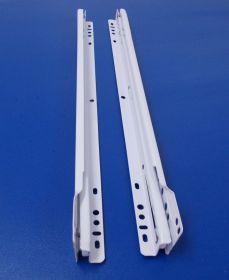 Rolničkový-kolečkový výsuv - bílý , 1 kompl.sada, délka 550mm