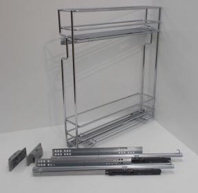 Výsuvný dvojkoš,VIBO,plnovýs. quadro s tl., 200mm,levý, pro sp.skříňku
