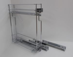 Výsuvný dvojkoš,VIBO,plnovýsuv quadro s tlumením.,200mm,pravý, pro spodní skříňku
