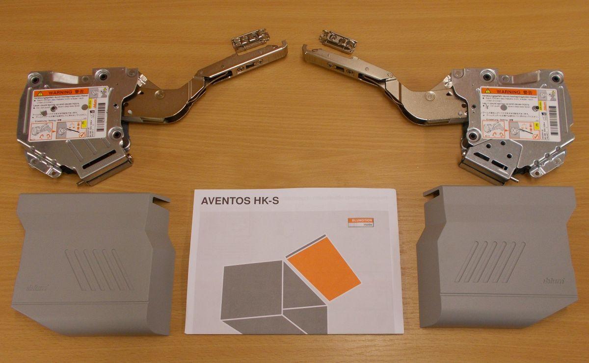 Blum Aventos HK-S ,komplet sada,šedé krytky,BALENÍ=10 SAD