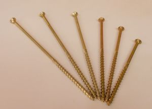 Vrut pro dřevostavby záp. hlava T40,  8x260/100 mm, ZZ,bal=1kus