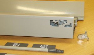 Plnovýsuv s tlumením STRONG BOX 140/400 mm - kompletní sada šedá