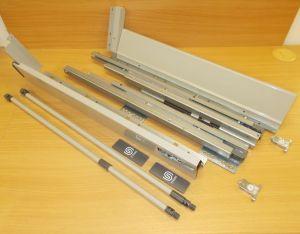 Plnovýsuv s tl. STRONG BOX 140/350 mm - sada šedá