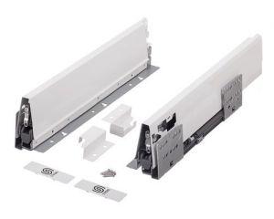 Plnovýsuv s tl. STRONG BOX 204/550 mm - sada Bílá dvoj.reling