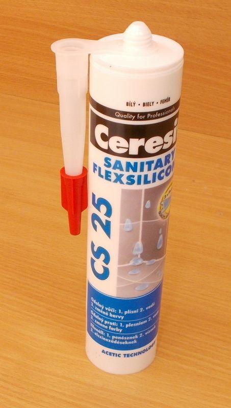 Ceresit CS 25 , silikon , bílý ,sanitární , 1kartuše - 280ml