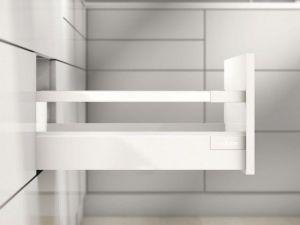 Kompletní set, kování zásuvky Antaro D, bílá ,čelo na vrut,500 mm