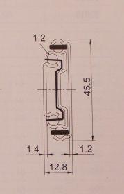 Kuličkový plnovýsuv PUSH, značka Strong- kick ,délka 350mm, bal=1pár