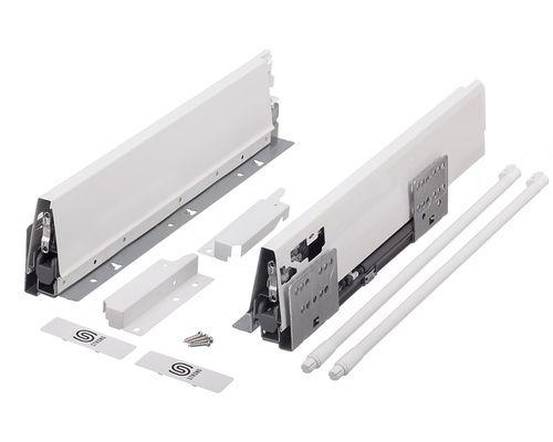 Plnovýsuv s tlumením STRONG BOX 140/500 mm - komlpletní sada Bílá