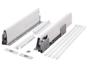 Plnovýsuv s tl. STRONG BOX 204/500 mm - bílá dvojitý reling