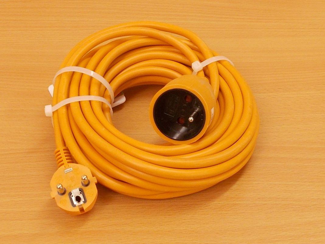 Prodlužovací kabel, 10 metrů, 1 zásuvka , 1 kus