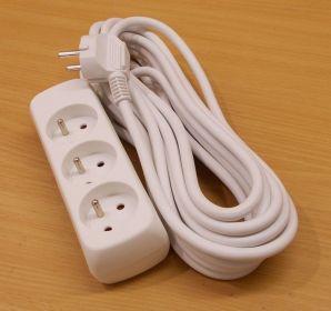 Prodlužovací kabel, 7m, 3zásuvky , 1 kus