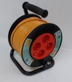 Prodlužovací kabel, buben, 25 metrů,4zásuvky , 1 kus